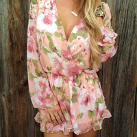 Botanical Ruffled Playsuit