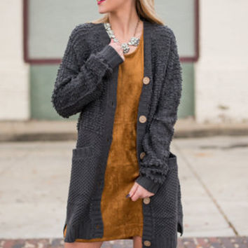 My Lucky Day Cardigan, Charcoal