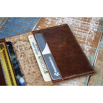 4-Slot Front Pocket Card Sleeve Wallet - The Dip (Horween Cavalier Leather)