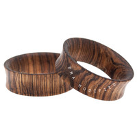 Dark Zebra Wood Tunnel Plugs (36.5mm) #7716
