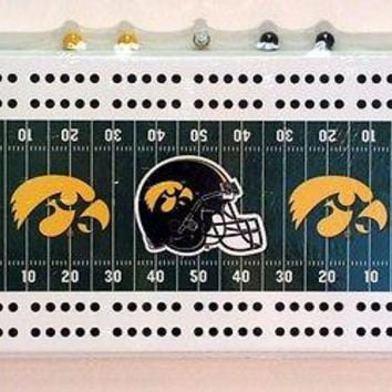 University of Iowa Hawkeyes Football Cribbage Board