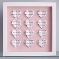 Personalised Text Hearts Box Frame .. on Luulla