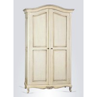 Provencale Antique White French Double Wardrobe | French Furniture | White Bedroom Furniture | French Armoires