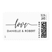 Custom Love Wedding Postage Stamps