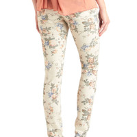 Linear Monologue Jeans in Floral | Mod Retro Vintage Pants | ModCloth.com