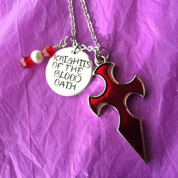 Sale - Knights of the Blood Oath Sword Art Online Cosplay Anime Necklace personalized jewelry