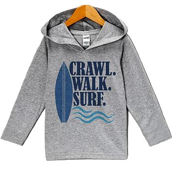 Custom Party Shop Baby Boy's Crawl Walk Surf Summer Hoodie Pullover