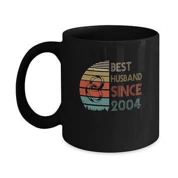 15th Wedding Anniversary Gifts Best Husband Since 2004 Mug