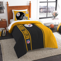 Pittsburgh Steelers NFL Twin Comforter Set (Soft & Cozy) (64 x 86)