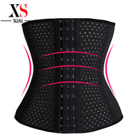 3Rows hooks women slimming Cheap body shaper Bustier belt fashion 4 steel boned waist trainer corsets black Plus size Shapewear