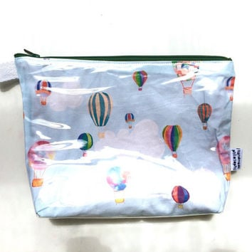 Hot Air Balloon Divided Flat Bottom Pouch Medium (handmade philosophy's pattern)