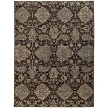 Heritage Charcoal Blue Oriental Persian Casual Rug