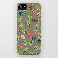 Crazy Pineapple Party iPhone & iPod Case by Bianca Green