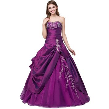 Quinceanera Dresses Purple Debutante Gowns