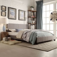 HomeVance Lexington Upholstered Bed Frame