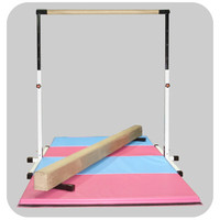 Little Gym - White Bar, Tan Beam, Pink & Blue Mat | Nimble Sports