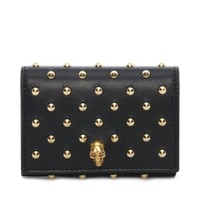 Nappa Leather Studded Fold Over Card Wallet Alexander McQueen | Card Holder | Wallets Cardholders |