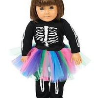 "Skeleton Tutu 18"" Doll Costume"