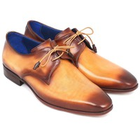 Men's Luxury Shoes by PAUL PARKMAN (Paul Parkman Brown & Camel Hand-Painted Derby...)