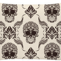Skull and Flourishes Pillowcase