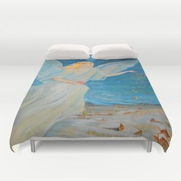 Bless me | Guardian Angels are Here | Angel of Abundance | Love Duvet Cover by Azima