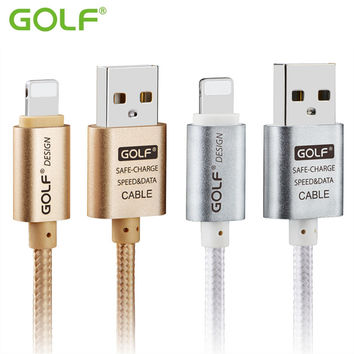 GOLF 1m 2m 3m Ultra Long USB Charge Data Sync Cable For iPhone 5 5S 6 6S 7 iPad 4 Air 2 Fast Charging Metal Braided Charger Wire