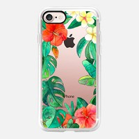 Paradise Garden on transparent iPhone 7 Case by Micklyn Le Feuvre | Casetify
