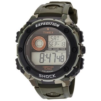 Timex T49981 Men's Expedition Vibe Shock Alarm Chronograph Digital Dive Watch