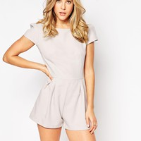 Love Cap Sleeve Playsuit at asos.com