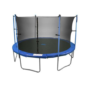 Upper Bounce 8-ft. Round 6-Pole / 3-Arch Trampoline Enclosure Safety Net (Black)