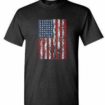 New Summer Style Personality Design Grunge American Usa America - Mens Cotton T-Shirt