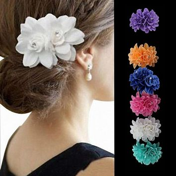 Beautiful Flower Hair Pin Clip Pin Hairband