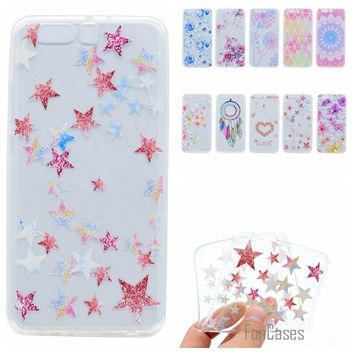 Cute Phone Case For Huawei P10 Plus Coque Colorful Style Soft TPU Capa For Huawei P10 Plus Fundas Rose Wind Chime Back Cover