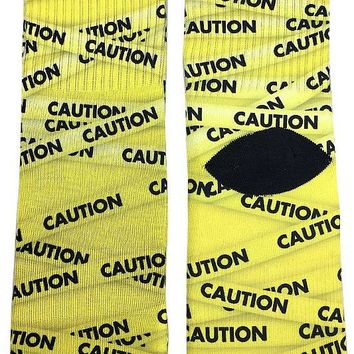 Caution Tape Socks