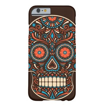 Colorful Sugar Skull Barely There iPhone 6 Case