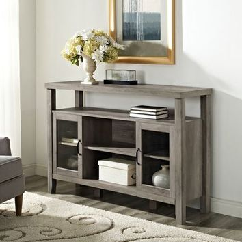 High Boy Gray Wash Wood Console Table