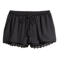 H&M Shorts with Lace Trim $24.99