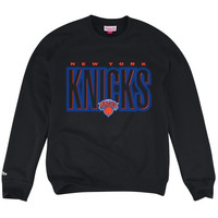 New York Knicks Mitchell & Ness Retro Blur Fleece Sweatshirt – Black