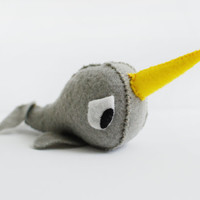 Narwhal Plush Toy by SOMETHiNGMONUMENTAL on Etsy