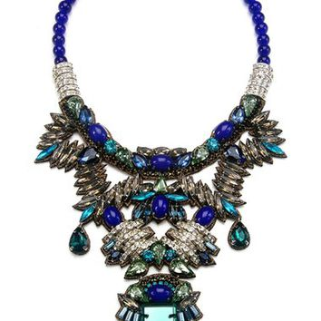 Suzanna Dai 'Khepri' Beaded Crystal Statement Necklace | Nordstrom