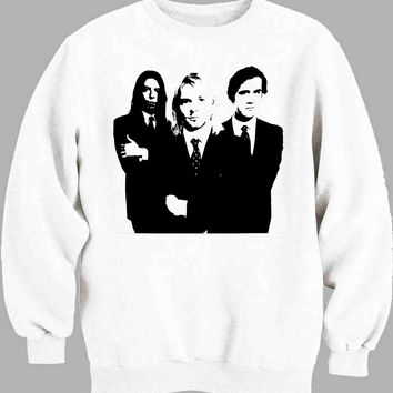 Nirvana Black and White Sweater for Mens Sweater and Womens Sweater *