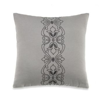 Wamsutta® Cambridge Scroll Square Toss Pillow in Grey