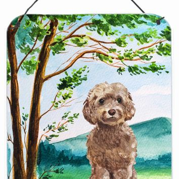 Under the Tree Labradoodle Wall or Door Hanging Prints CK2023DS1216