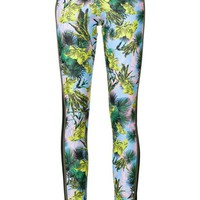 Versace Palm Print Leggings Farfetch
