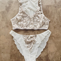 Sneak Peek Mauve Lace Honeymoon Panties