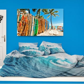 "Kids Surf Comforter ""Ocean Wave"" from Extremely Stoked Kids Bedding"