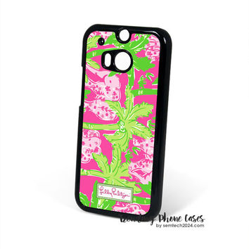Elephant Pink Pattern-Lilly Pulitzer HTC One M8 Case Cover for M9 M8 One X Case