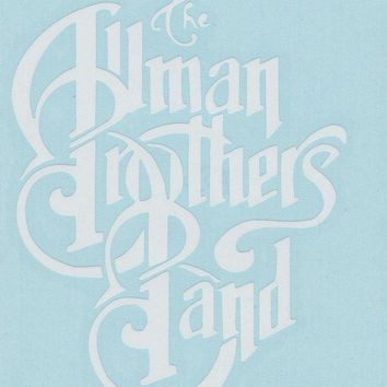 Allman Brothers Band Vinyl Cut Window Sticker White Letters Logo