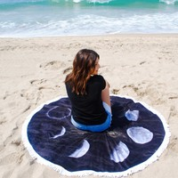 Moon Phases Beach Towel