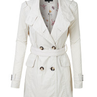 LE3NO Womens Lightweight Fully Lined Windbreaker Trench Coat with Belt